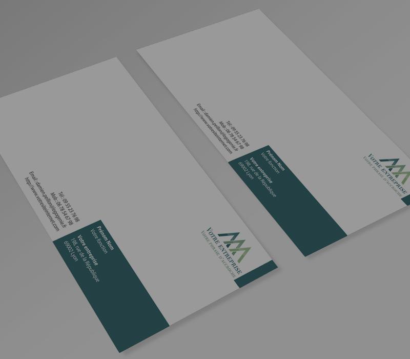 Cartes de correspondance (21 x 10 cm)